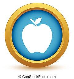 Gold-Apfel-Ikone