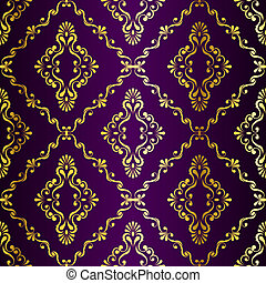 Gold auf purpurfarbenem indianischem Muster