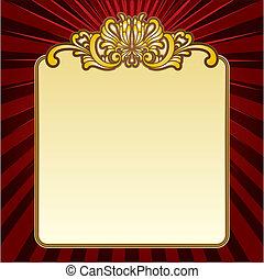 Gold dekorative Grenze