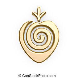 Gold Erdbeersymbol