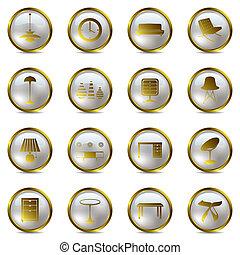 Gold-Innen-Ikonen-Set