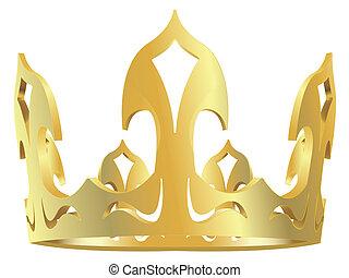 Gold königliche Krone.
