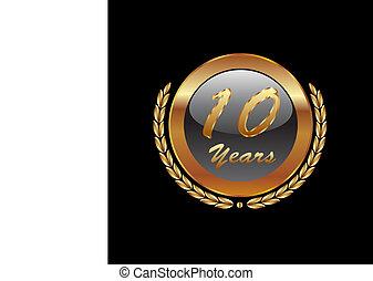 Gold Lorbeerkranz 10 Jahre