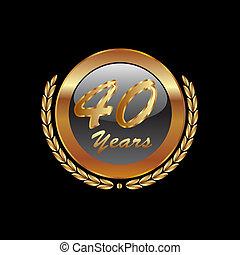 Gold Lorbeerkranz 40. Jahrestag