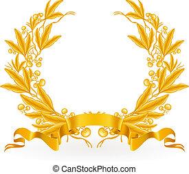 Gold Lorbeerkranz, Vektor