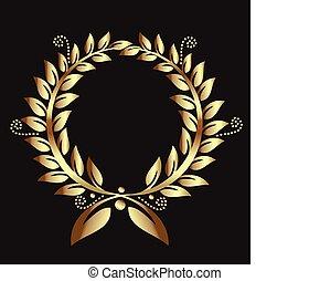 Gold-Lorrel-Rreath-Preis-Logo