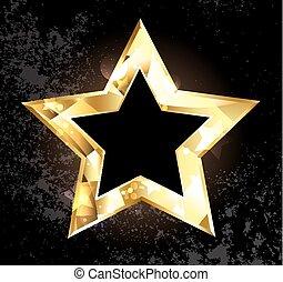 Gold polygonaler Stern