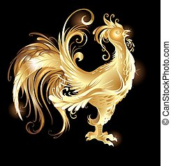 Gold-Rooster