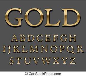 Gold-Schrift