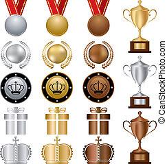 Gold-Silber-Bronze-Preise eingestellt