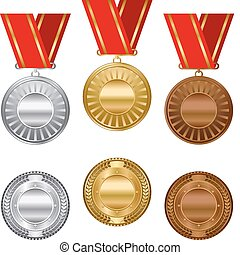 Gold-Silber- und Bronze Auszeichnungen