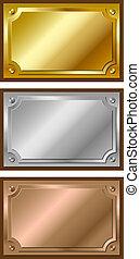 Gold, Silber und Bronze.
