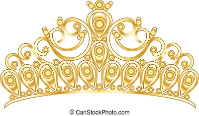 Gold Tiara krönen Frauen Hochzeit mit Steinen.