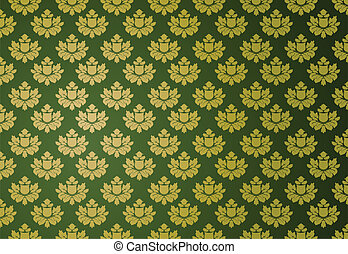 Gold und grünes Glamourmuster