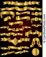 Goldband-Vektor-Sammlung.