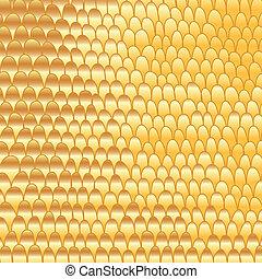 Golddoodle handgemachte Abstrakte zurück