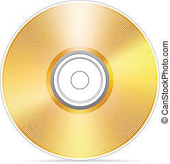 Golden Compact disc Vektor illustra