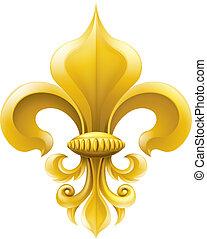 Golden Fleur-de-lis Illustration
