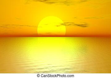 Golden Sonnenaufgang
