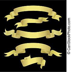 Goldene Banner (vektor)