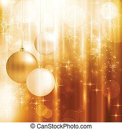 Goldene glitzernde Weihnachtskarte