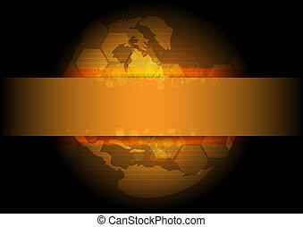 Goldene globale Hintergrundplanung