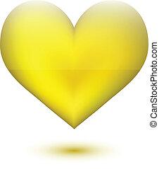 Goldene Herzform