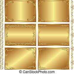 Goldene Hintergründe