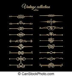 Goldene Kalligrafenblätter