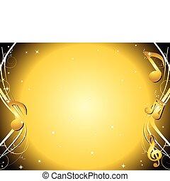 Goldene Musik schreibt Hintergrund