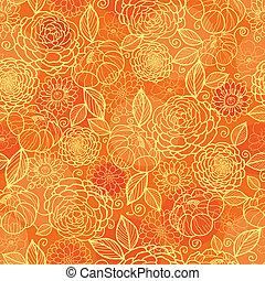 Goldene, orangefarbene Struktur, nahtlose Muster Hintergrund.