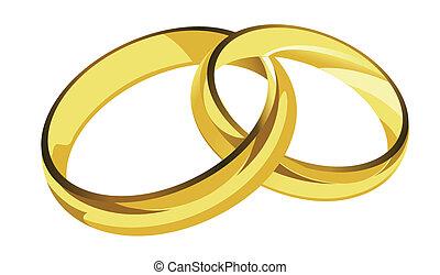 Goldene Ringe.