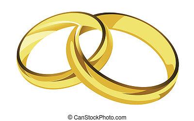 Goldene Ringe illustrieren.