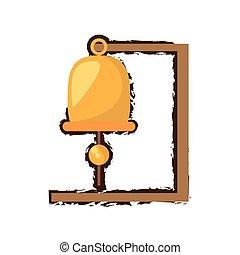 Goldene Schiffsglocke Nautical Symbol doodle.