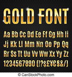 Goldene Schrift.