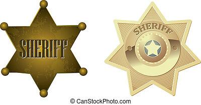 Goldene Sheriff-Abzeichen