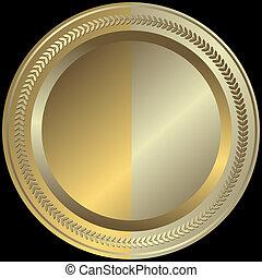 Goldene und silberne Platte (vektor)