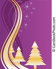 Goldene Weihnachtsbäume