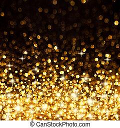 Goldene Weihnachtsbeleuchtung im Hintergrund