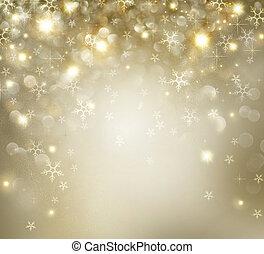 Goldene Weihnachtsferien mit blinkenden Sternen.