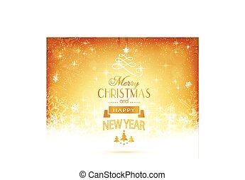Goldene Weihnachtstypographie mit Sternen und Licht.