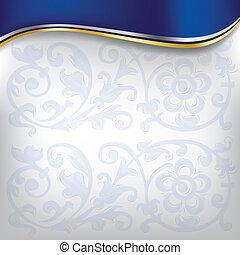 Goldene Welle im blauen Hintergrund