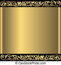 Goldener abstrakter Hintergrund (vektor)