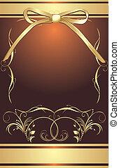 Goldener Bogen mit dekorativem Rahmen