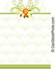 Goldener Bogen mit grünem Schmuck