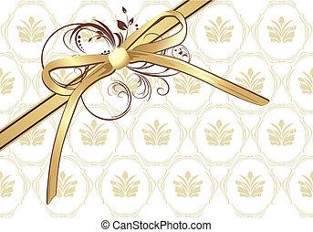 Goldener Bogen mit Schmuck
