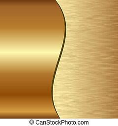 Goldener Hintergrund.