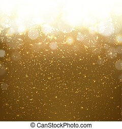 Goldener Hintergrund mit Bokeh.