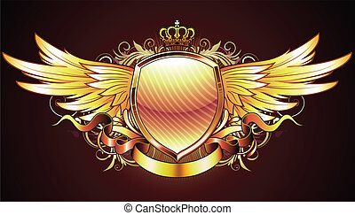 Goldener Schild