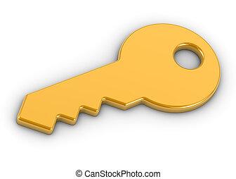 Goldener Schlüssel.